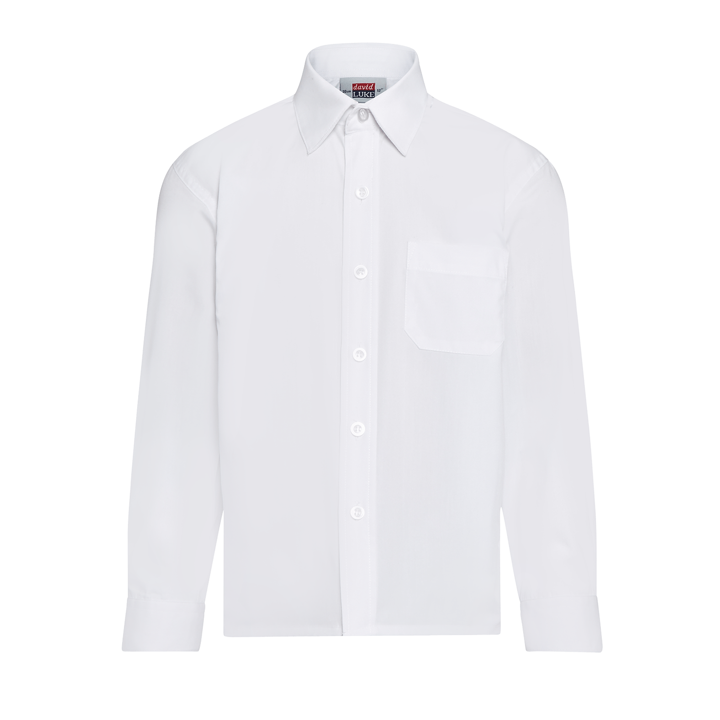 White School Shirt - Long Sleeve - Superstitch 86