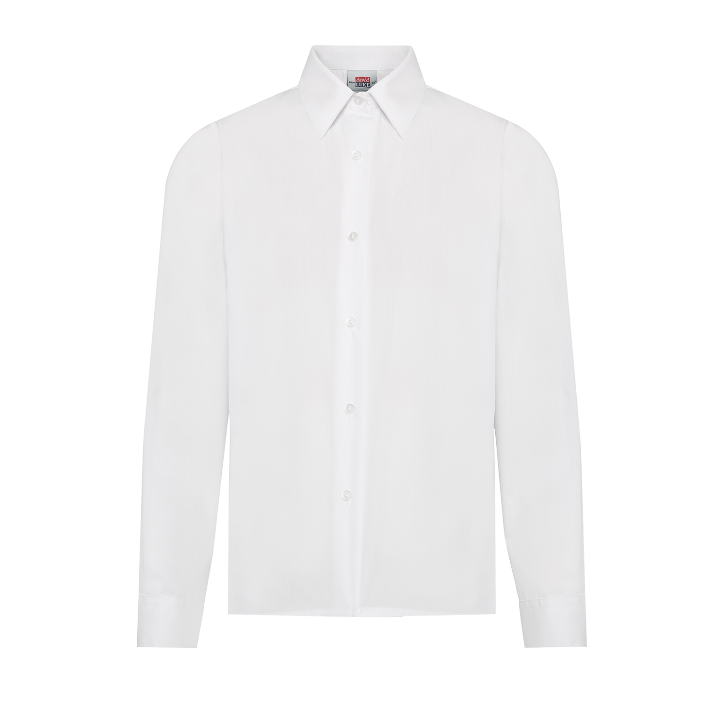 Twin Pack Claremont Boys L/S White Shirts - Superstitch 86