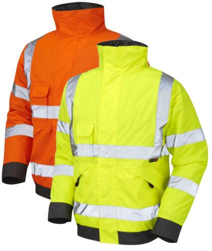 Mens Hi Vis Visibility Waterproof Bomber JacketHi Viz Work Wear Coat